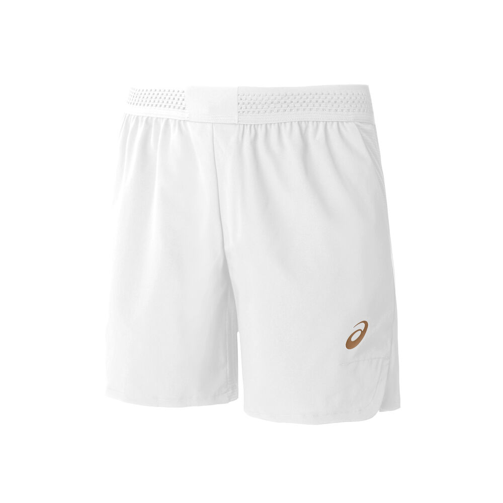 Image of Asics 7in Shorts Herren - Weiß, Gold