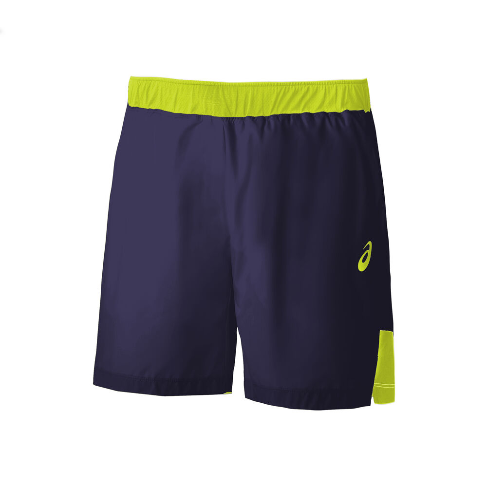 Image of Asics 7in Shorts Herren - Dunkelblau, Gelb
